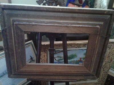 Antique Victorian Wooden Picture Frame Fine Detail
