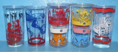 Lot of 5 Assorted Peanut Butter and Jelly Glasses Space Circus goldilocks