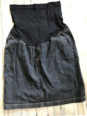 Womens Liz Lange Maternity Jean Skirt Sz S Small