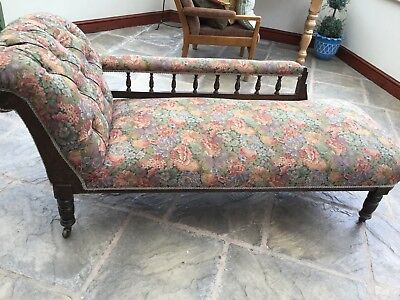 Antique Victorian Chaise Longue Couch