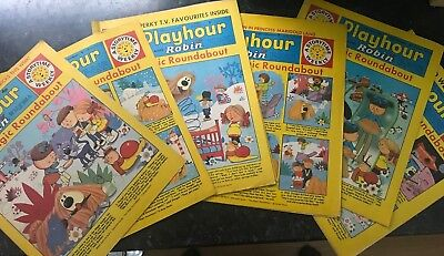 Playhour and Robin Magic Roundabout 1970-72 Childrens Magazine x6 Editions