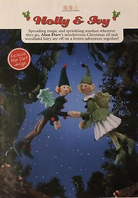 Alan Dart'S Holly & Ivy Woodland Fairies Knitting Pattern Ne