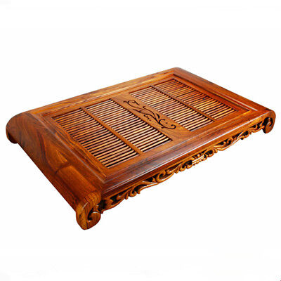 Chinese solid wood tea tray rosewood tea table plastic layers serving trays new