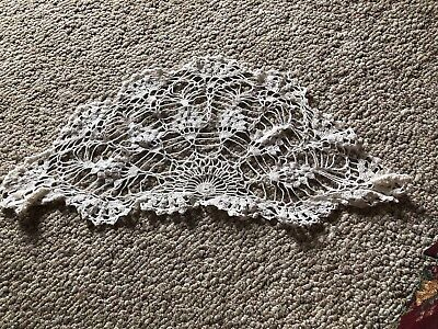"""Preowned Crocheted  Doily 12"""" By 26"""" (white)"""