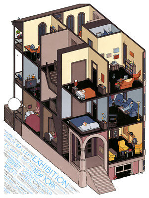 CHRIS WARE Gallery Exhibition POSTER SIGNED *RARE*
