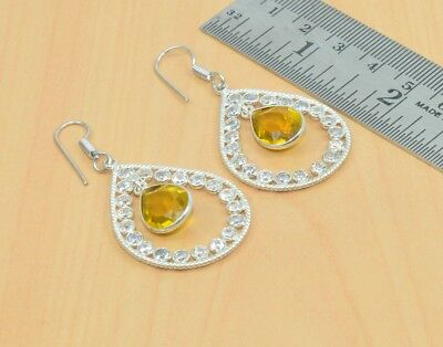 925 Silver Plated Blue Sun Stone Studd Earring Jewelry os37368