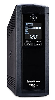 CyberPower CP1500AVRLCD Intelligent LCD UPS System, 1500VA/900W, 12 Outlets,