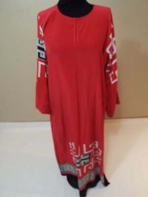 Chinese Silk red long dress Ethnic Asian size M-L free ship