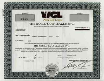 World Golf League WGL 2004 Lake Mary Florida Delaware Golf Orlando Mike Pagnano