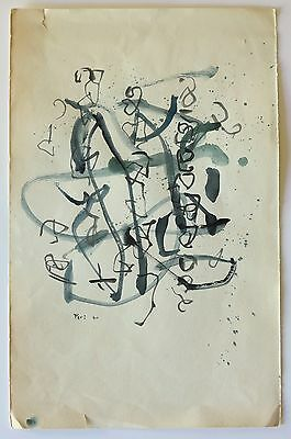 Eve Peri c.1960 Abstract Expressionism painting NYC Modernist woman artist