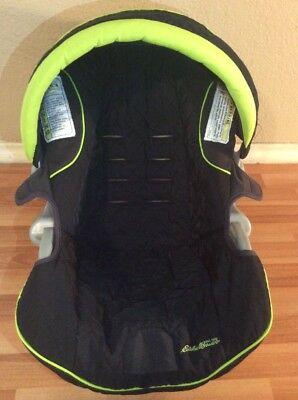Eddie Bauer Baby Car Seat Cover Cushion Canopy Set Replacement Black Green