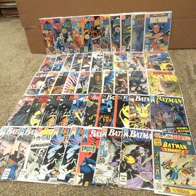 DC Batman Lot of 50 Comic Books Issues 284 to 451 with 404 1st Modern Cat Woman