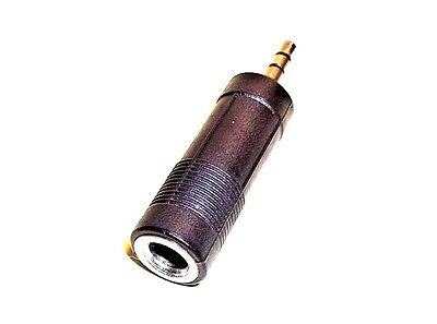 """1/4"""" (6.35 mm) Female to 1/8"""" (3.5 mm) Male Adapter for K6VHF Headset Adapters"""