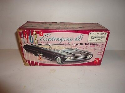 Vintage 1/25 Amt 1962 Chevrolet Impala Convertible 3 In 1 Kit #149 Box Only