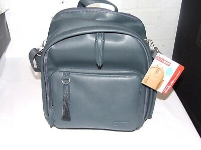 Skip Hop Greenwich Simply Chic Backpack/Changing Bag - SMOKE