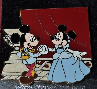 MICKEY & MINNIE MOUSE as Disney Couples PRINCESS CINDERELLA PRINCE PIN 59763