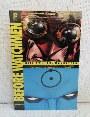 New Before Watchmen: Nite Owl / Dr. Manhattan DC Delux Edition Free Shipping