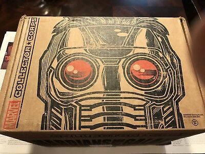 Funko MARVEL COLLECTOR CORPS GUARDIANS OF THE GALAXY Box Complete Except Scarf