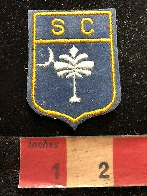 Vintage Flag Themed South Carolina Patch 83Y7
