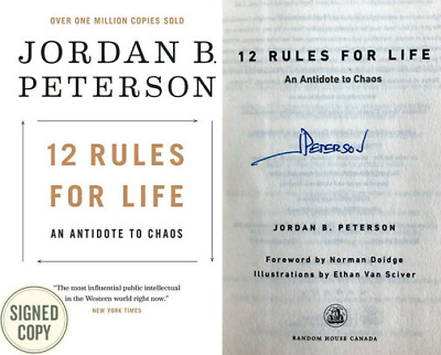 Jordan Peterson SIGNED Hardcopy 12 Rules for Life: An Antidote to Chaos