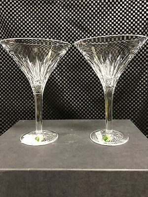 Waterford Crystal 2008 100th Anniversary Collection Pair Of Martini Glasses NEW