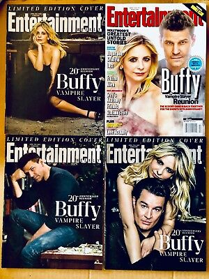 Buffy The Vampire Slayer 20th Anniversary Entertainment Weekly - All 4 Covers
