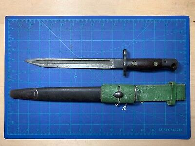 British P1907 Enfield Bayonet 1916 Sanderson Short with Leather Scabbard