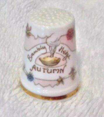 Royal Doulton Bramley Hedge 1982 thimble by Jill Barklem