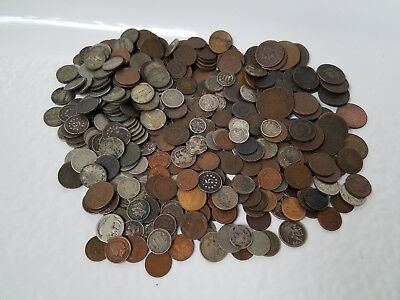 Lot of 500 assorted United States coins * TYPE COINS * 90% silver * war nickel *