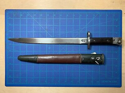 British India GRI MK II RFI Bayonet w/ Leather Scabbard Lee Enfield 1944