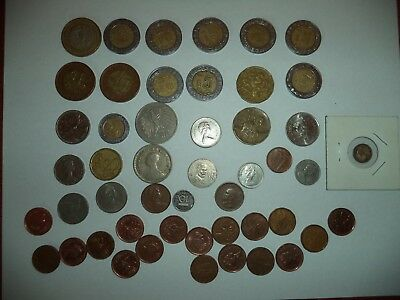 Lot of 49 Different-  Sizes, Foreign Countries, Denominations coins
