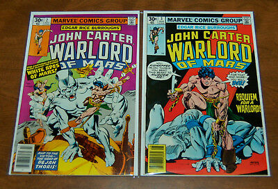 John Carter: Warlord of Mars (1977 series) #2 & #3 VF/VF+ Marvel Bronze Age