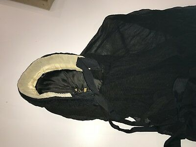 Antique Victorian Ladies Child Mourning Hat bonnet With Chin Ribbons Civil War