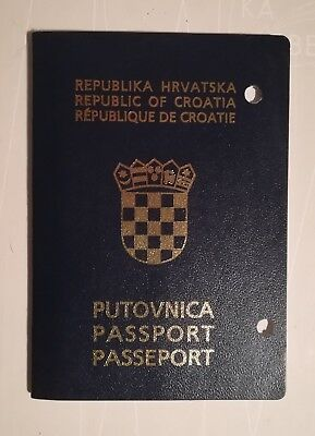 Passport CROATIA Pre-Biometric Totally Bianco Inside NO MARKS Cancelled-Expired