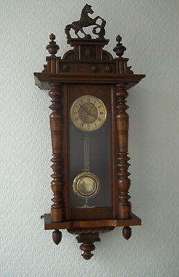 Friedrich Mauthe Vienna Regulator Style Wall Clock Spring Driven
