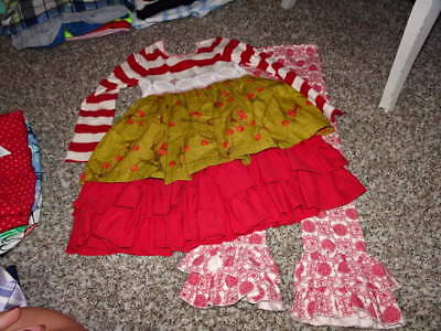Giggle Moon Girls 5 Gorgeous Dress And Leggings Set Cherry Floral