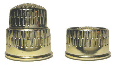 Rare & Unique Gold Tone Plastic Collapsible Sewing Thimble