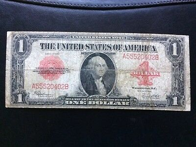 1923 $1 United States Note Red Seal