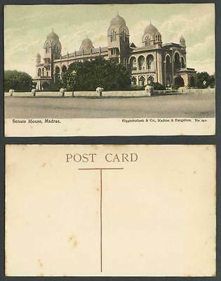 India Old Colour Postcard Senate House Madras Designed by Chisholm Unveiled 1887