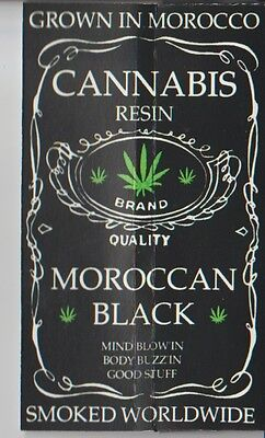 Moroccan Black - Cannabis Resin King Size Cigarette Rolling Papers