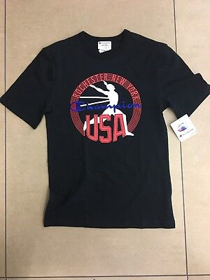 a9c544d2ac5e PACSUN CHAMPION USA Mens Size Small Black Rochester New York T-shirt ...