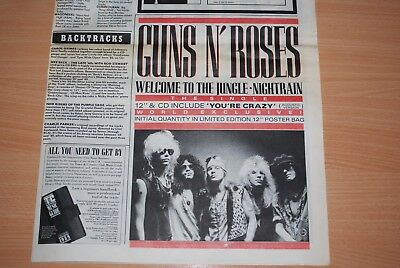 Guns N' Roses - Rare Welcome To The Jungle Original Uk Ad. Ready To Clip & Frame
