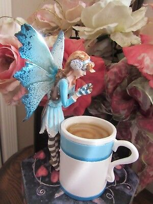 Amy Brown HOT COCOA fairy Figurine New but tip of wing is broken off