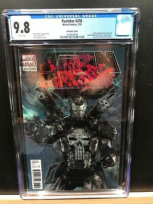 Marvel Punisher #218 Variant Cgc 9.8 First Appearance Of Punisher As War Machine