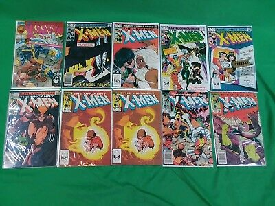 X-Men Comics Lot Of 10 Issues #169,170,171,172,173,174x2,175,176, And 1991 Issue