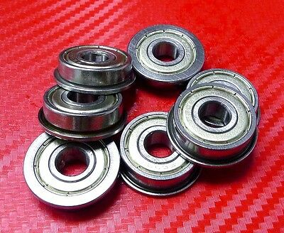 5pcs F63800zz (10x19x7mm) Metric Metal FLANGE Ball Bearing 10 19 7 F63800z