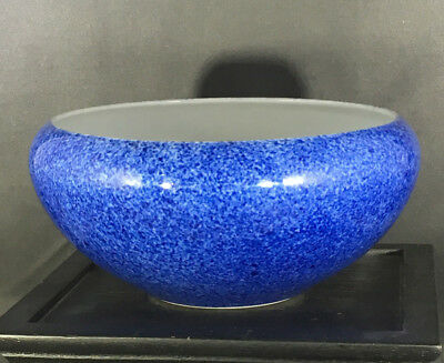 Japanese Blue Shallow Bowl with Chinese Four Character Mark