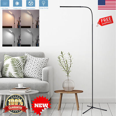 3in-1 LED Floor Lamp Standing Flexible Dimmable Gooseneck Desk USB Reading Light