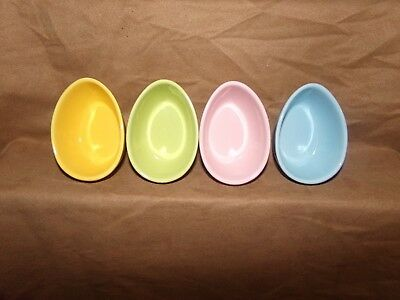 BIA Small Ceramic Easter Egg Shaped Ramekin Candy Dish, Cup or Bowls Pastels