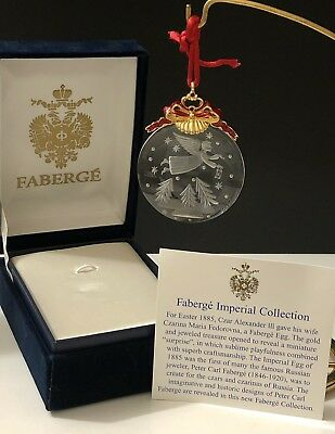 FABERGE Imperial Collection Crystal Christmas Ornament Original Box MAKE OFFER
